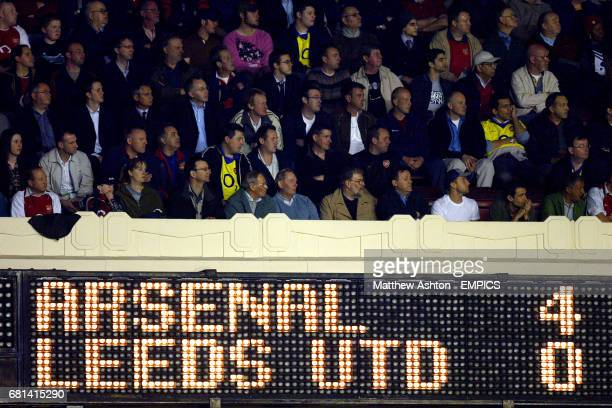 The Highbury scoreboard makes unhappy reading for Leeds United fans