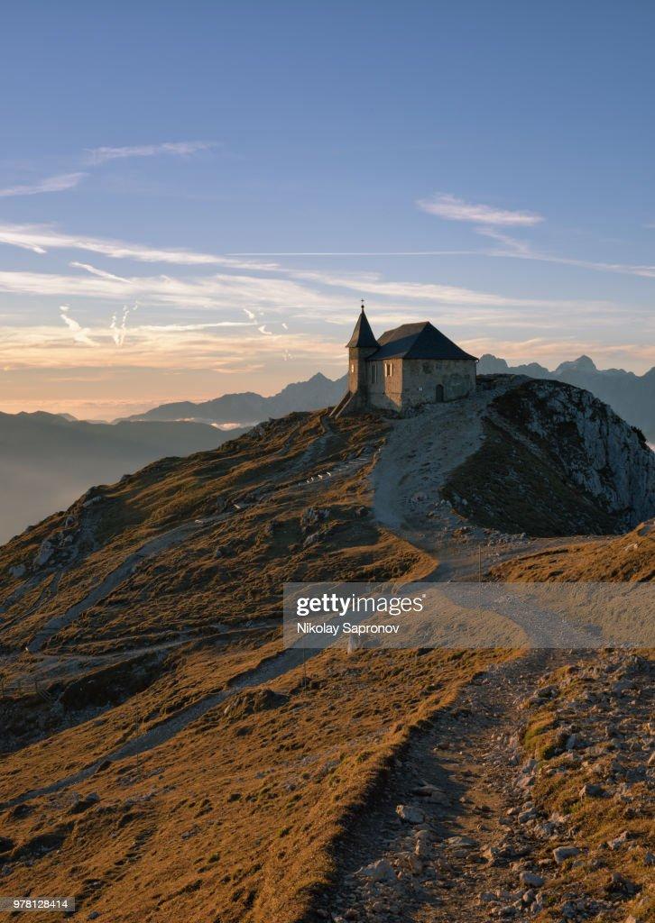 The Highest Austrian Church (Die Kirche Maria am Stein) : Foto de stock