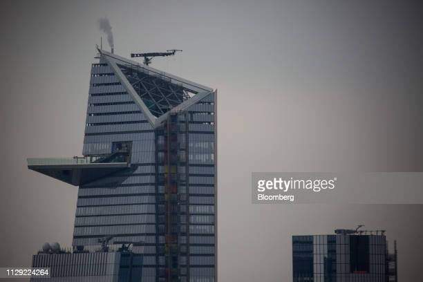The highest observation deck in the western Hemisphere is seen under construction at 30 Hudson Yards in New York US on Thursday March 7 2019 US...