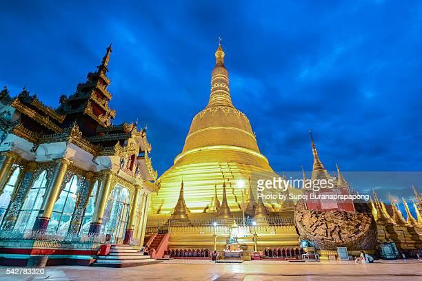 The highest pagoda named Shwemawdaw Pagoda,Myanmar