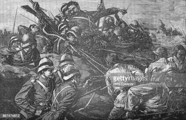 The Highland Brigade Storming The Trenches at TelElKebir' circa 1882 Episode of the AngloEgyptian War From British Battles on Land and Sea Vol IV by...