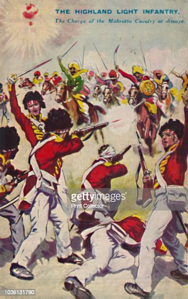 The Highland Light Infantry The Charge of the Mahratta Cavalry at Assaye' The Battle of Assaye occurred on 23 September 1803 near the village of...
