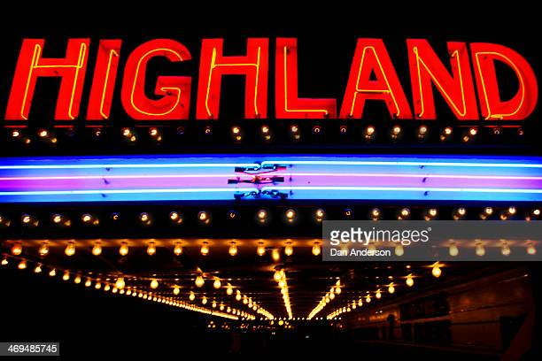 The Highland Movie Theater marquee located in the Highland Park neighborhood of St. Paul, MN Minnesota