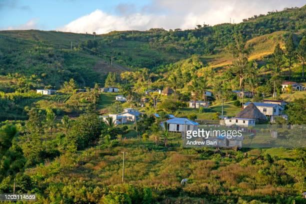 the highland village of naga - fiji ストックフォトと画像