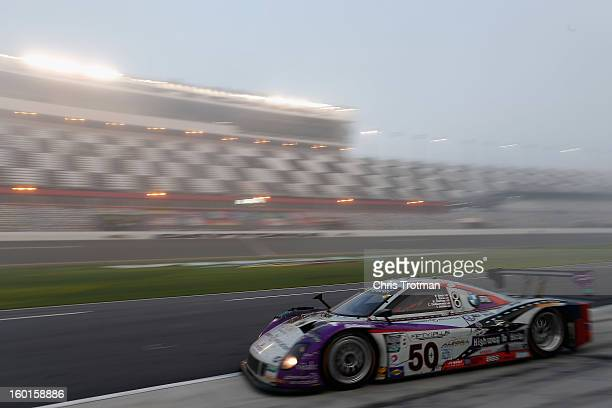 The Highway to Help BMW Riley car driven by Carlos de Quesada, Jim Pace, Byron Defoor, Frank Beck and Ian James drives in the Rolex 24 at Daytona...