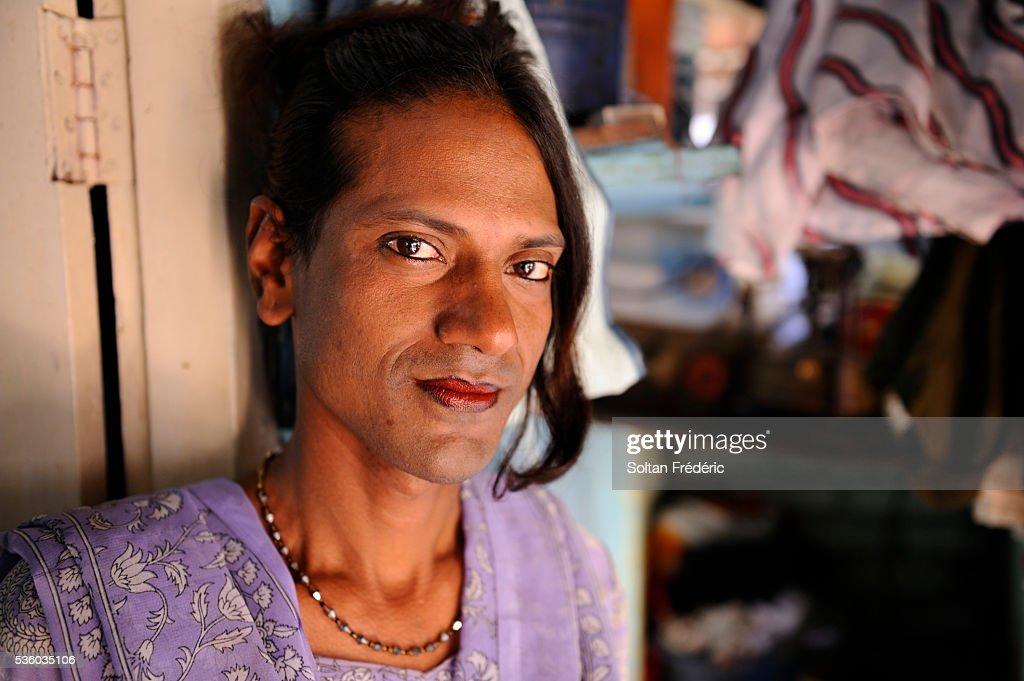 The Hijra community of Mumbai : Stock Photo