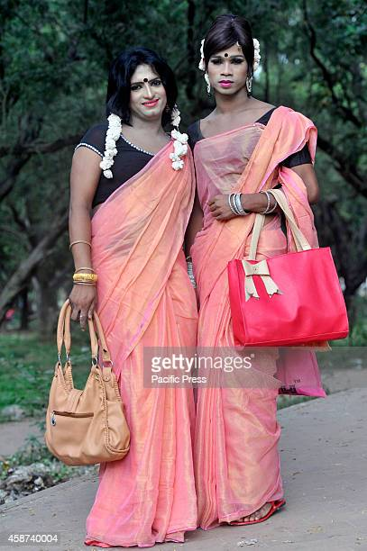 The hijra or gays prepare for the parade The Bandhu Social Welfare Society organized the Hijra Pride 2014 a third sex parade aiming that the...