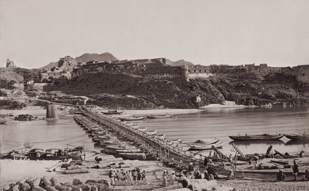 The hill fort at Attock in the Punjab, India, 1878-1879....