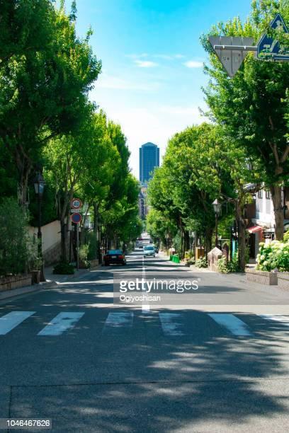 the hill road of kobe - 兵庫県 ストックフォトと画像