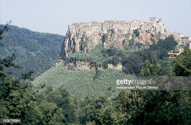 The hill top town of Calcata Italy