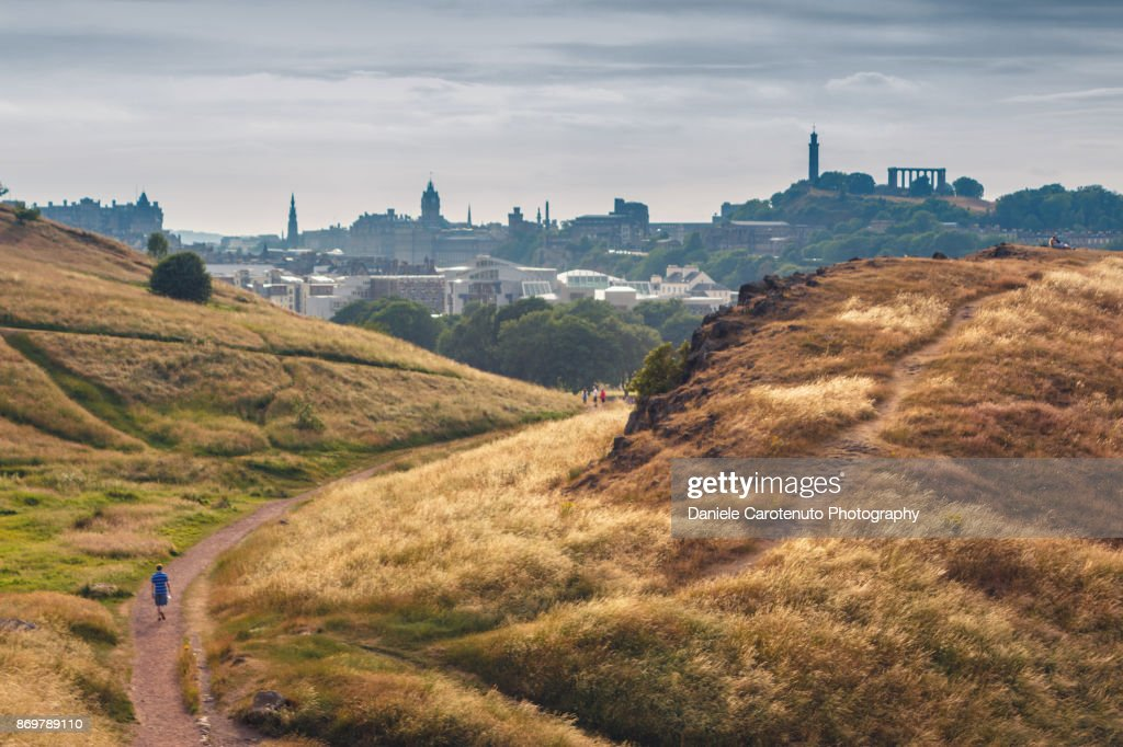 The hills in the town : Stock Photo