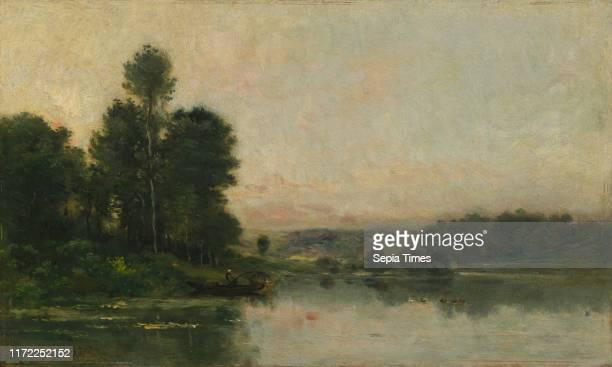 The Hillsides of Mery-sur-Oise, Opposite Auvers, 1873. Charles Francois Daubigny . Oil on wood panel; framed: 64 x 86 x 12.5 cm ; unframed: 34.5 x...