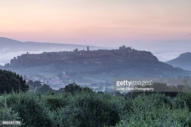 The hilltop town of Orvieto in Umbria.