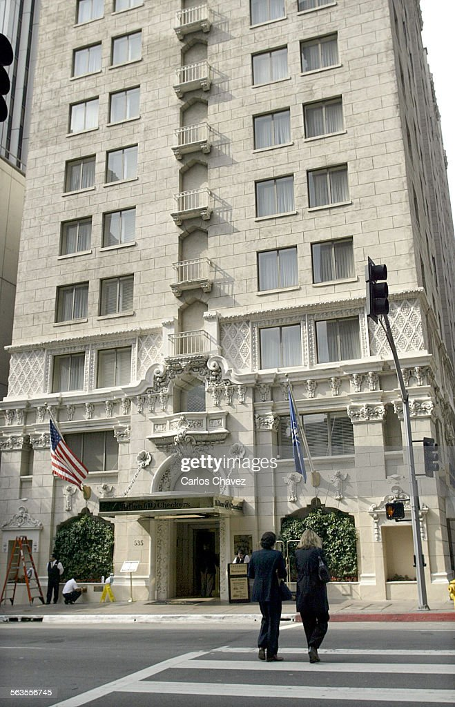 The Hilton Checkers Hotel In Downtown Los Angeles Where Doormen Eric Bellows Watches For Guests