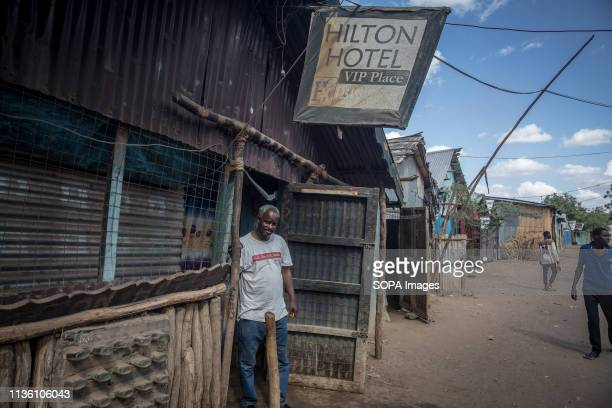 The Hilton Hotel seen in Kakuma refugee camp, northwest Kenya. Kakuma is home to members of the local Turkana community and the nearby refugee camps...