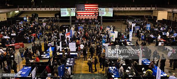 The 'Hiring our Heroes' Job Fair is seen on March 27 2014 in New York City The jobs fair which was put together by the New York National Guard and...