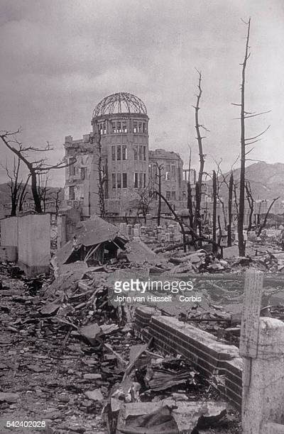 The Hiroshima Chamber of Industry and Commerce was the only building remotely close to standing near the center of the atomic bomb blast of August 6...