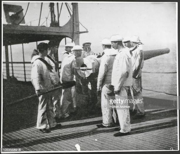 The HispanoAmerican War Jul 1898 Black white 2 On The 'St Paul' In action