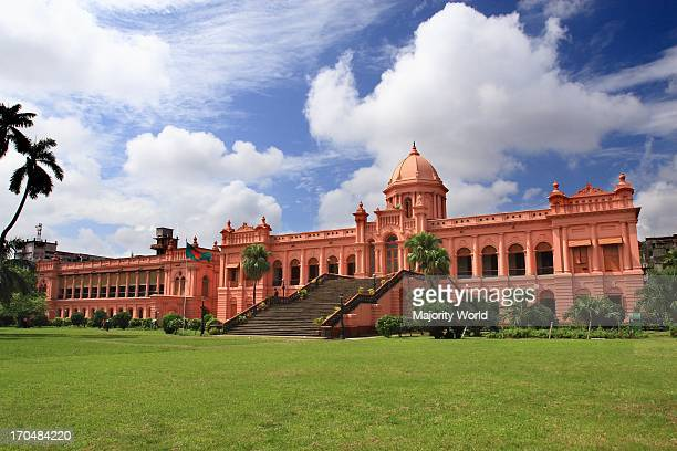 The historic Ahsan Manjil is situated in Kumartoli on the bank of the Buriganga river in Dhaka Bangladesh It had been used as the residential palace...