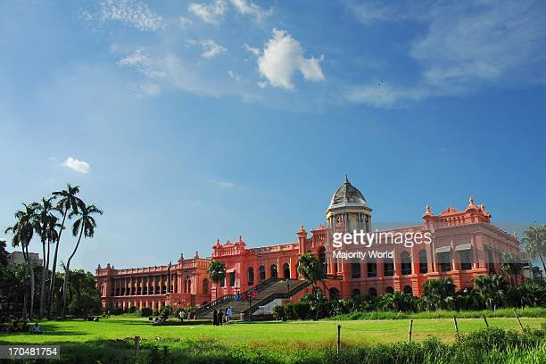 The historic Ahsan Manjil situated at Kumartoli on the bank of the Buriganga river Dhaka Bangladesh The palace had been used as the residential...