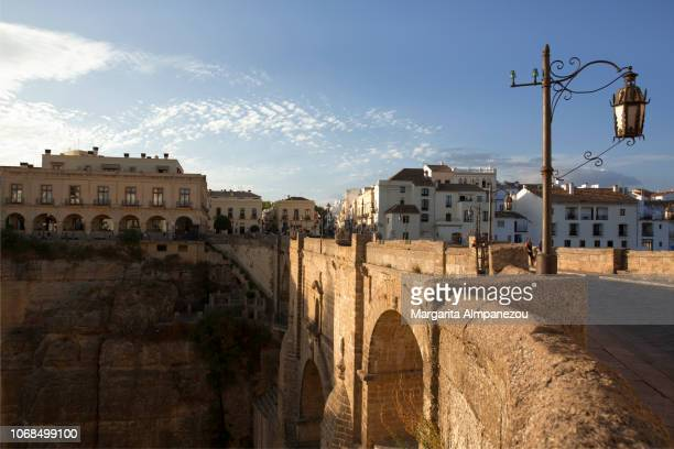 The historic bridge Puente Nuevo in Ronda with the entrance to the old town