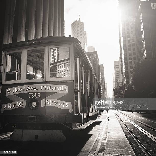 The historic cable car on San francisco city