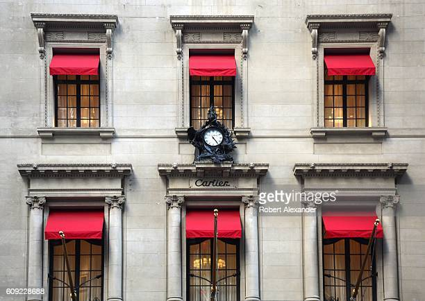 August 26, 2016: The historic Cartier Building on Fifth Avenue is a New York City landmark. Renovated and reopened in 2016, the building is the...
