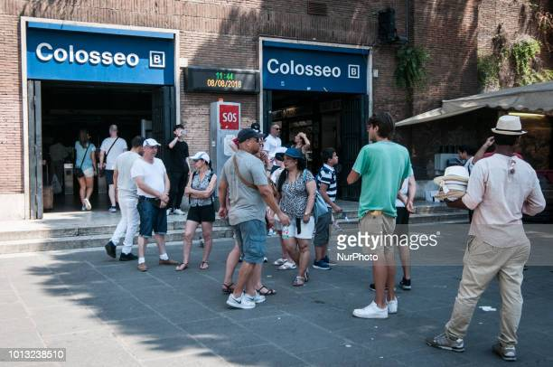 The historic center of Rome invaded by illegal vendors besieging tourists in the historical points of the capital in particular the Colosseum area on...