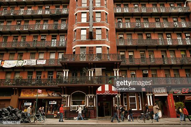 The historic Chelsea Hotel on 23rd St in Manhattan is famous for the writers who have stayed and lived there over the years The historic landmark...