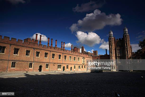 The historic cobbled School Yard of Eton College on May 26 2008 in Eton England An icon amongst private schools since its founding in 1440 by King...