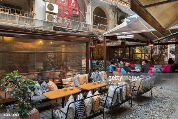 The Historic HazzoPulo Passage in Beyoglu,Istanbul,Turkey