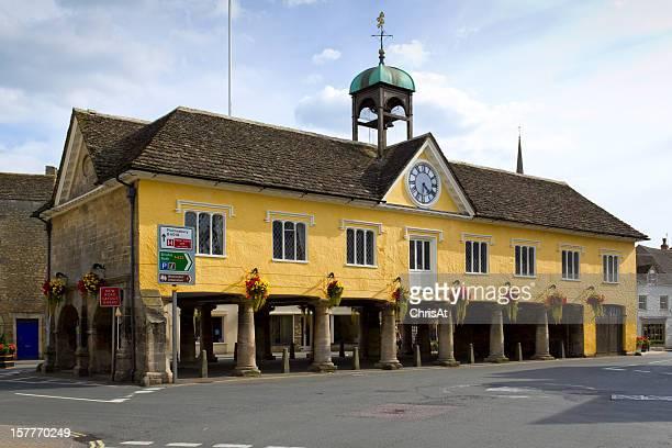 The historic Market Hall, Tetbury, Cotswolds, Gloucestershire, UK