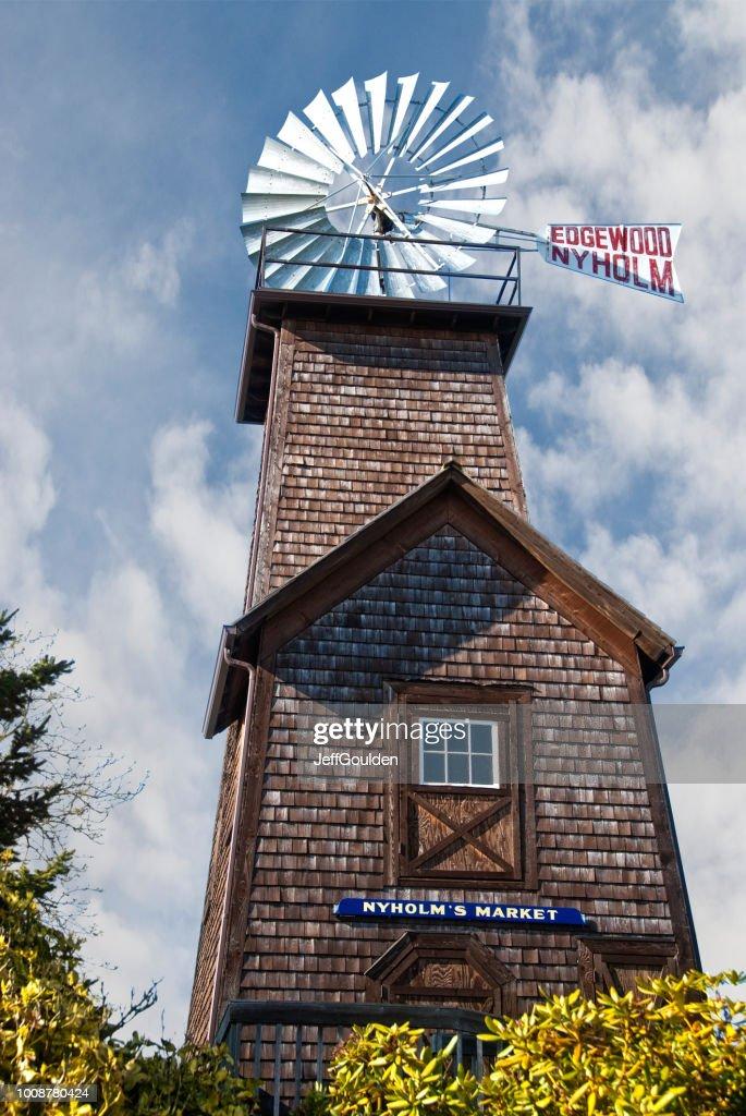 Historic Edgewood Nyholm Windmill : Stock Photo