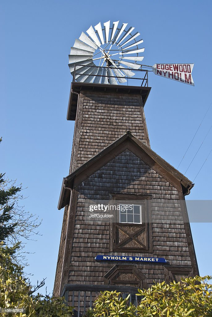 Historic Edgewood Nyholm Windmill : Stock Photo