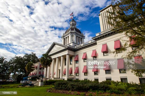 The historic Old Florida State Capitol Building restored to its 1902 version sits in front of the current New Capitol completed in 1982 November 10...
