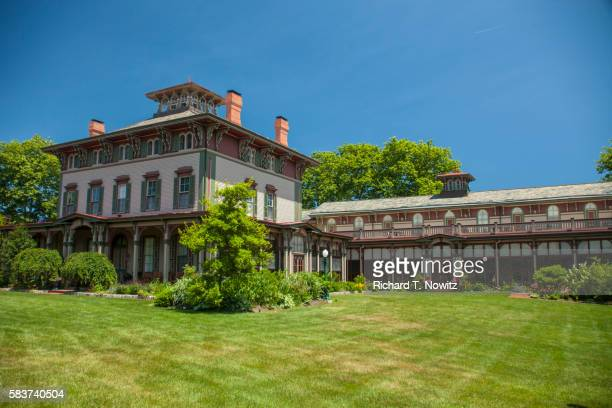the historic southern mansion - cape may stock pictures, royalty-free photos & images
