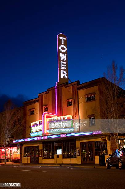 the historic tower theater - bend oregon stock photos and pictures