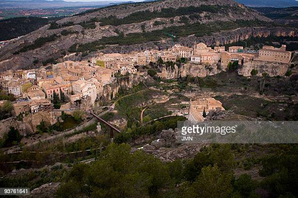 The Historic walled town of Cuenca from the Socorro Hill Autonomous Community of CastileLa Mancha Spain April 2008