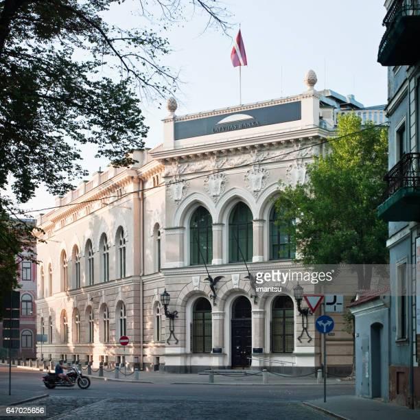 Het historische gebouw van de Bank van Letland