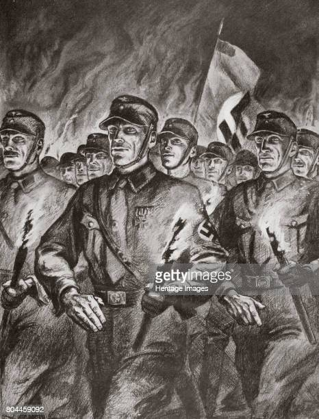 The historical torchlight procession of the SA in Berlin on 30th January 1933 30th January 1933 was the day Adolf Hitler became Chancellor of Germany...