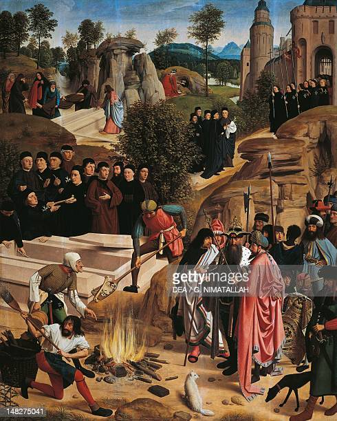 The History of the Relics of St John the Baptist outside of the right wing of the Altarpiece of St John ca 1485 by Geertgen Tot Sint Jans tempera on...