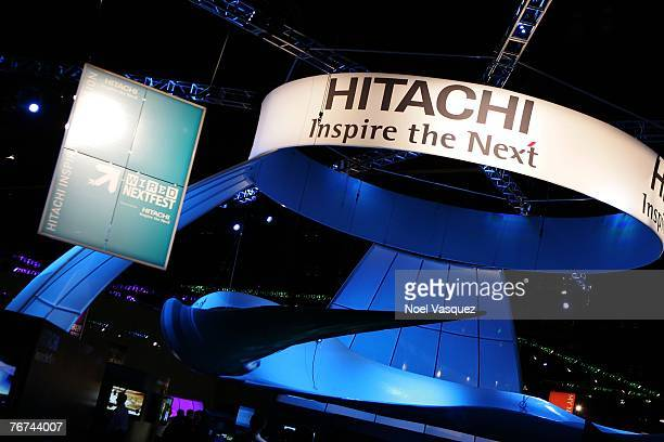 The Hitachi booth is seen at Wired's NextFest at the Los Angeles Convention Center on September 13 2007 in Los Angeles California