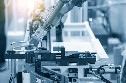 The hi-technology  material handing process by robotics system tube bending process. 1207515272