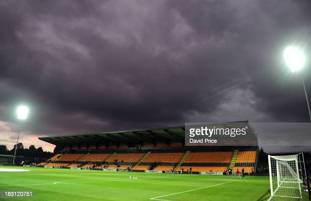 The Hive the home of Barnet Football Club before the match between Arsenal Ladies v Lincoln Ladies WSL Continental Cup Final at The Hive on October 4...