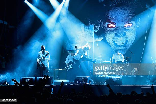 The Hives perform on stage at the Pure Crafted Festival 2015 on August 29 2015 in Berlin Germany