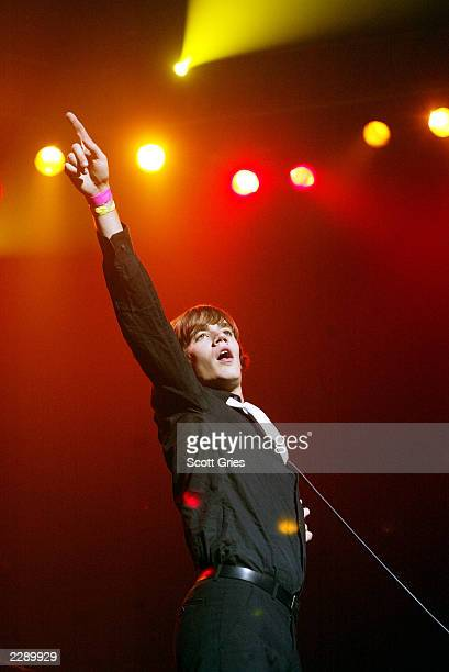 The Hives performing at the LIFEbeat 10th Anniversary benefit concert at the Hammerstein Ballroom in New York City. 8/28/02 Photo by Scott...