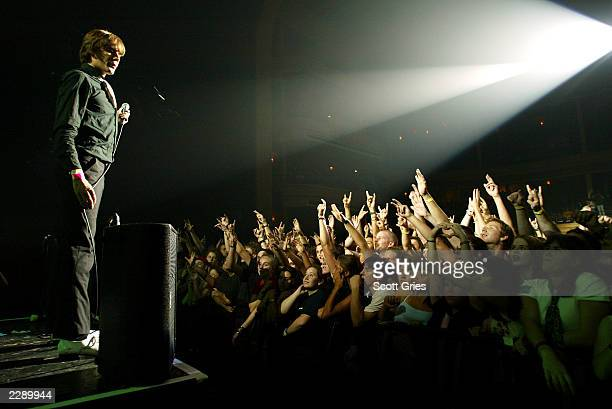 The Hives performing at the LIFEbeat 10th Anniversary benefit concert at the Hammerstein Ballroom in New York City 8/28/02 Photo by Scott...