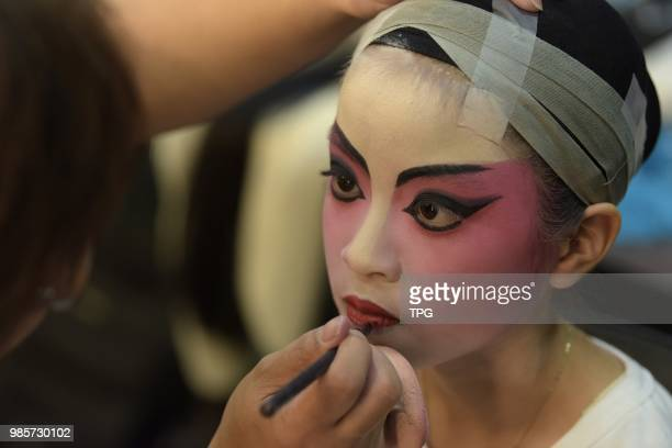 The HK pupils experience the traditional Cantonese opera on 27 June 2018 in Hongkong China