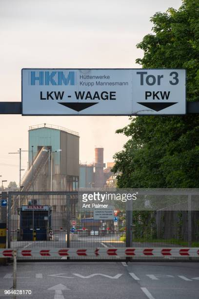 The HKM steel plant at sunset on May 31 2018 in Duisburg Germany The European Union and the United States are so far on a collision course over steel...