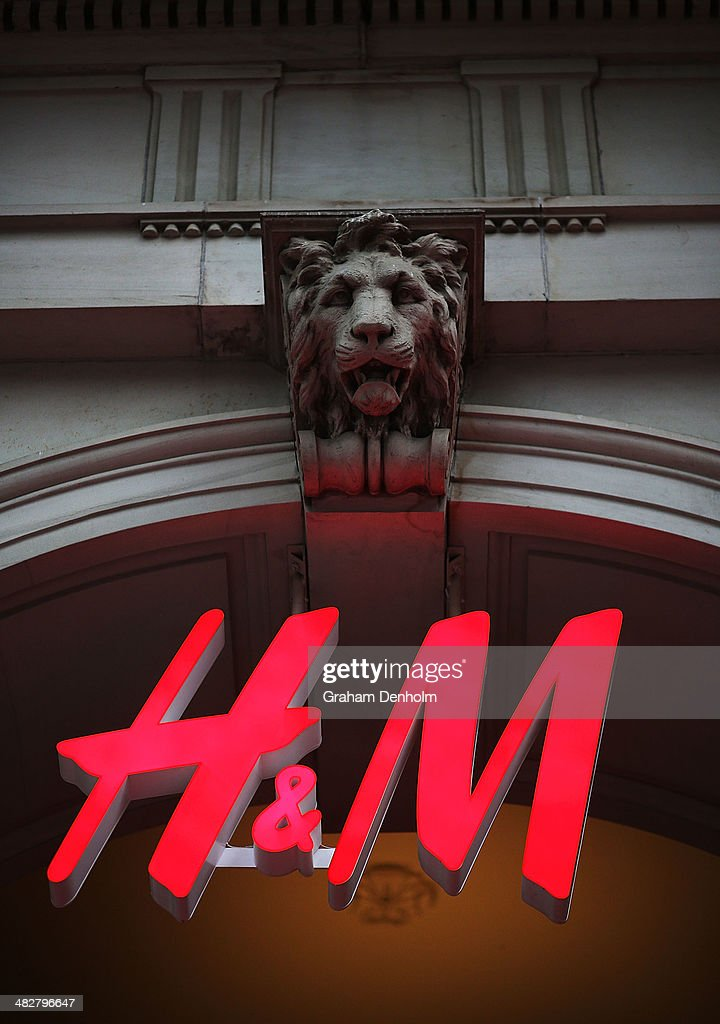 The H&M logo is seen on the GPO building at the opening of the first H&M Australia store at the GPO on April 5, 2014 in Melbourne, Australia.